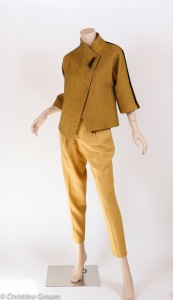 Speckled Wool Jacket and Wool Crepe Pants - Front View