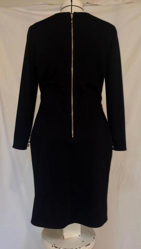 Custom Black Ponte Knit Dress